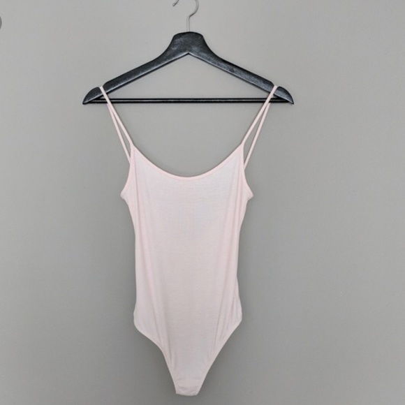 7bee3c7f0c American Apparel Low Back Pastel Pink Bodysuit